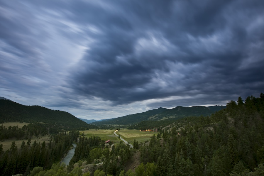 ute trail ranch on the lake fork of the gunnison river valley, near lake city, CO by lane davis